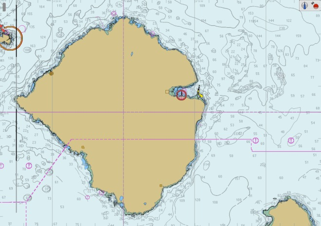 Viken på ön Rum